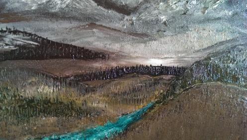 """Mountain River"" c. Jane H. Johann, October, 2013"