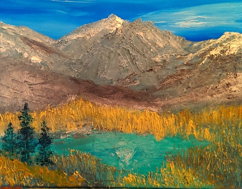 """Courage and Tranquility"" Jasper Mountain Range, Alberta, Canada c.Jane H. Johann, June, 2014"