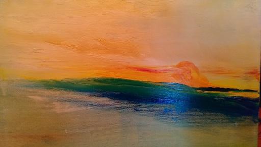 """""""Aura of Lake Michigan: July, 2013 c. Jane H. Johann"""