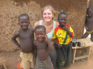 Lara and her little friends in Togo...2014