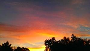 """Looking East"" Photo Credit: c.  Jane H. Johann, Sept.24, 2014 Artwork: God"