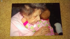"'My Mom, Agnes Johann, holding her great granddaughter, Nadia Jane Krenn"" Photo taken by Jane H. Johann c.2009"