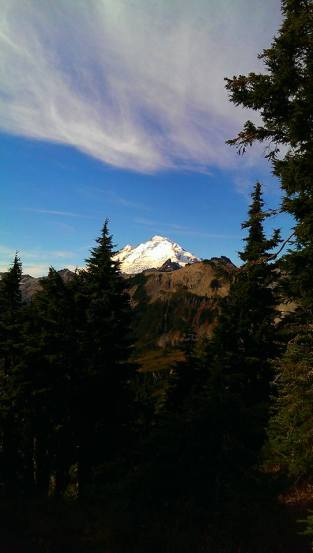 """Mt. Baker"" Photo Credit: Jane H. Johann, c.October, 2015. Taken from ""Artist's Point"" on the slopes of the Cascade Mountain Range."