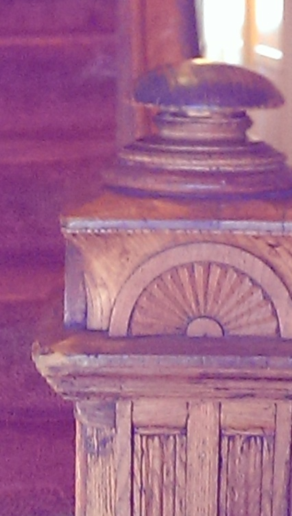 "Copyright ©Jane H. Johann, 2016 ""Corner Post""--- on a railing in my daughter's apartment building""..love the artistry!"
